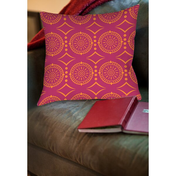 Banias Medallion Printed Throw Pillow by Manual Woodworkers & Weavers