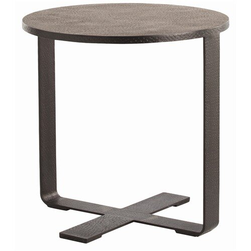 Ramiro Hammered Iron End Table