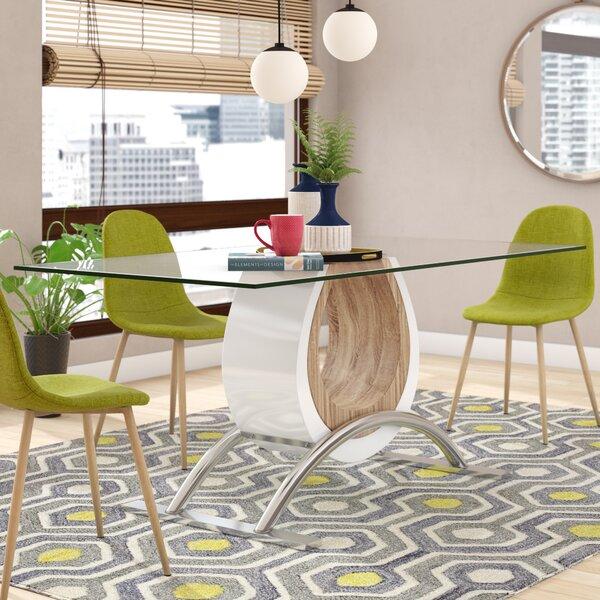 Kimbell Horseshoe Base Dining Table by Brayden Studio