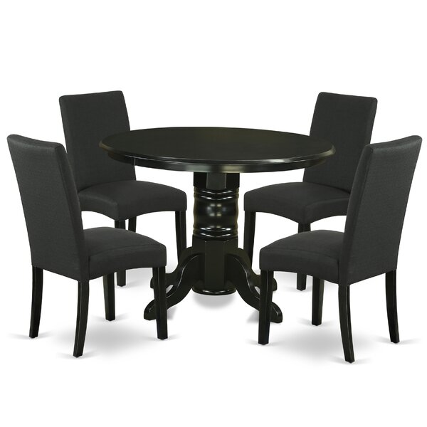 Wroblewski 5 Piece Solid Wood Breakfast Nook Dining Set by August Grove August Grove