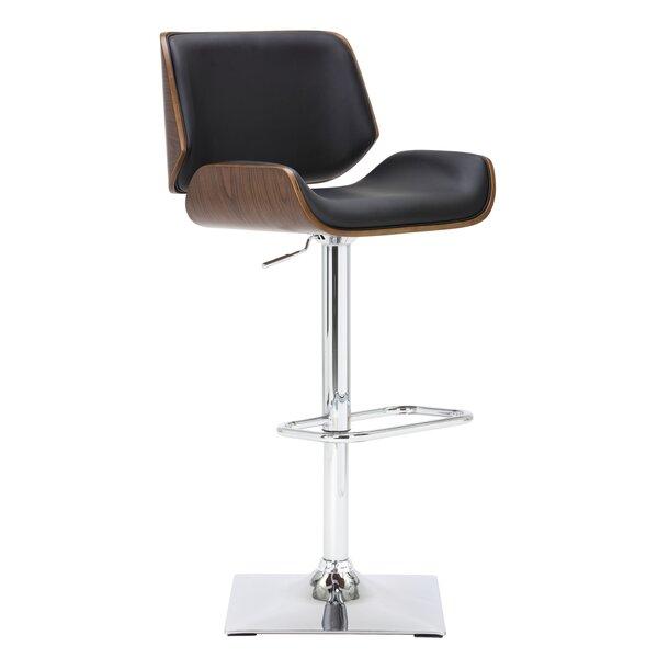 Kinley Adjustable Height Swivel Bar Stool by Sunpan Modern