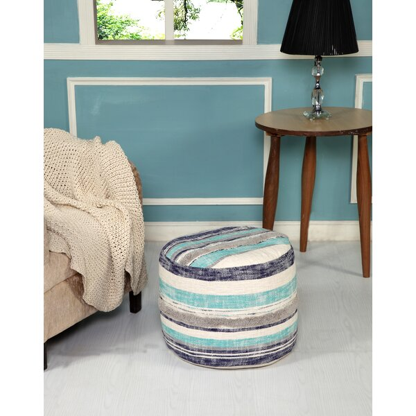 Eaves Stripe Pouf by Highland Dunes