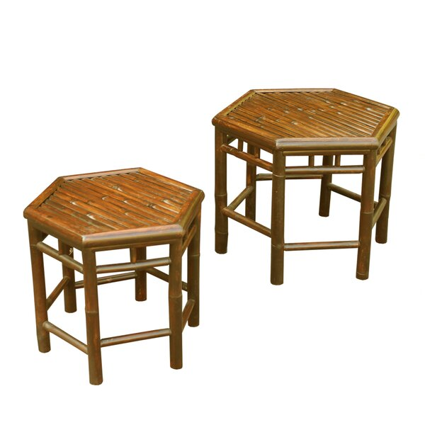 2 Piece Nesting Table Set by ZEW Inc
