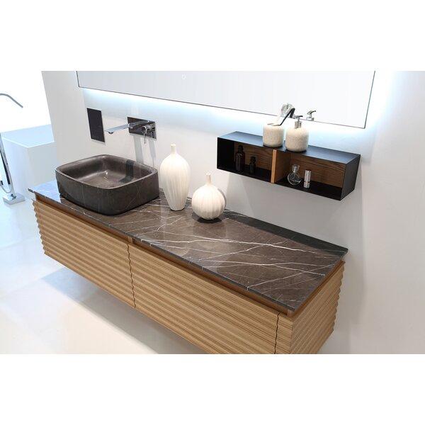 Rushmore Maple Modern 60 Wall-Mounted Single Bathroom Vanity Set