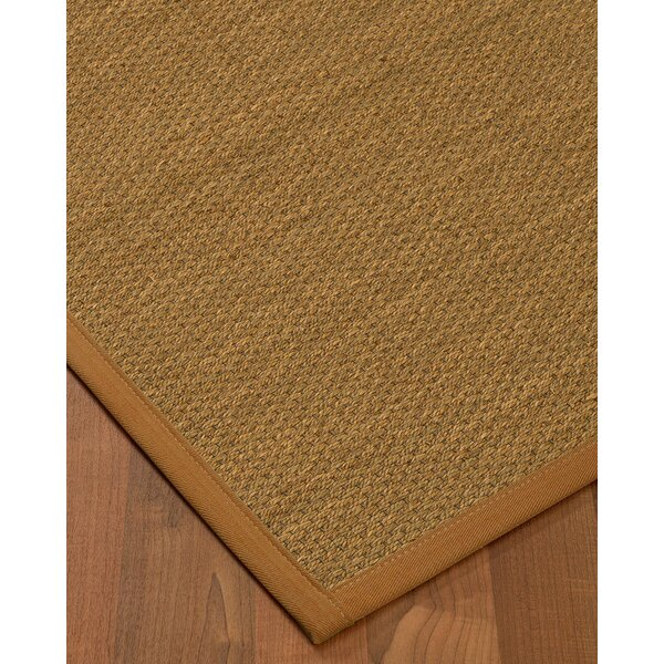 Kenny Border Hand-Woven Brown Area Rug