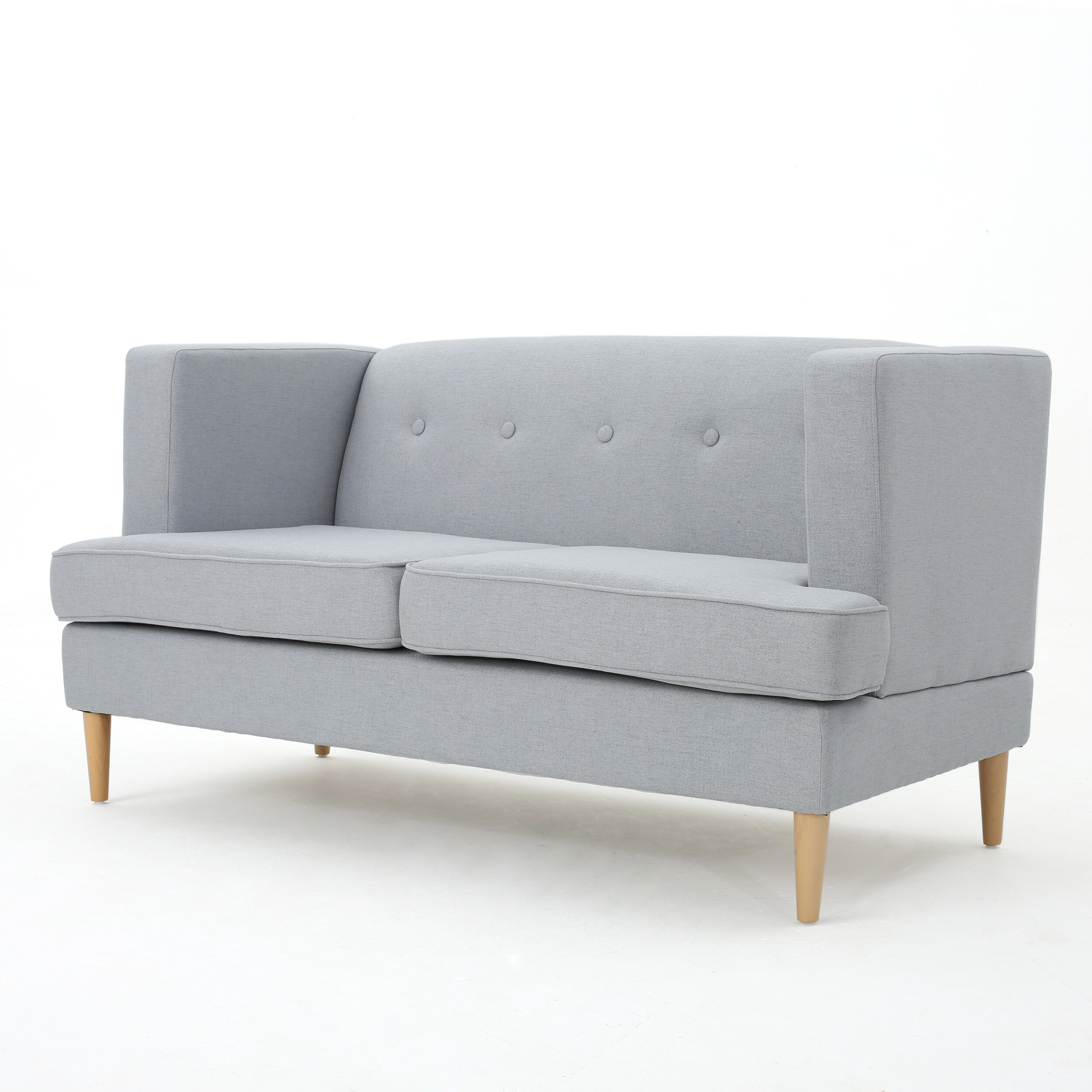 grey fabric in love furniture loveseats modern living sofas style contemporary dark loveseat minimalist chairs seat room and