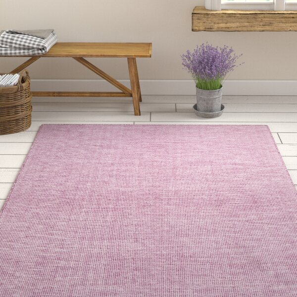 Dario Hand Woven Purple Area Rug by Ophelia & Co.