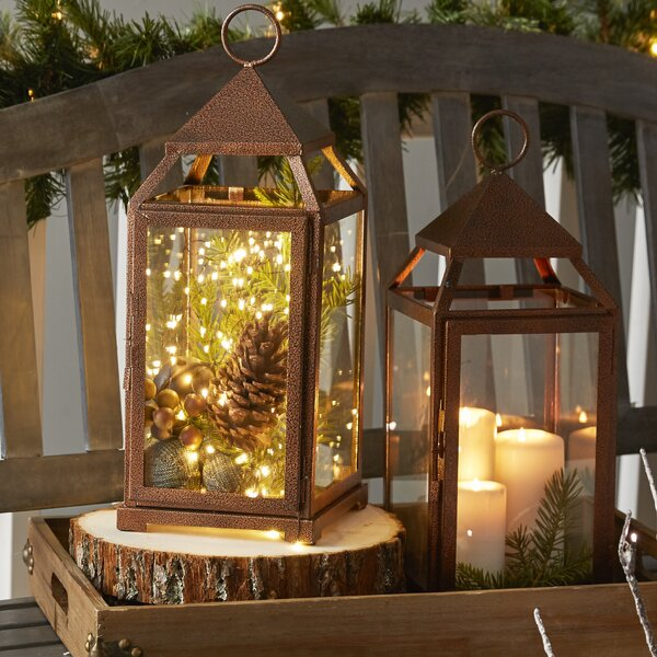 Large Contemporary Iron Lantern by Three Posts