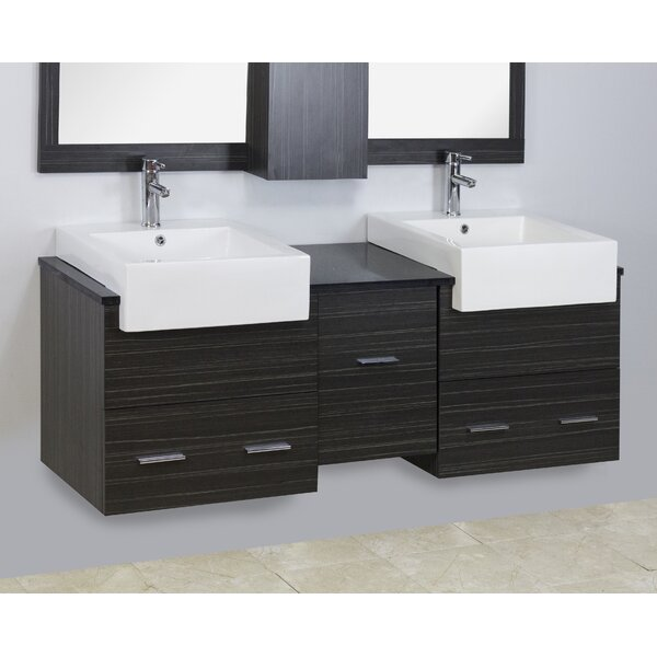 Ceramic 5 Wall Mount Bathroom Sink with Overflow by American Imaginations