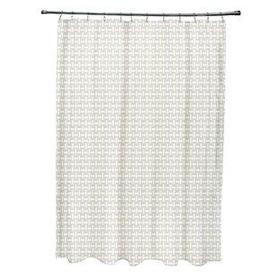 Bargain Geometric Shower Curtain Bye by design