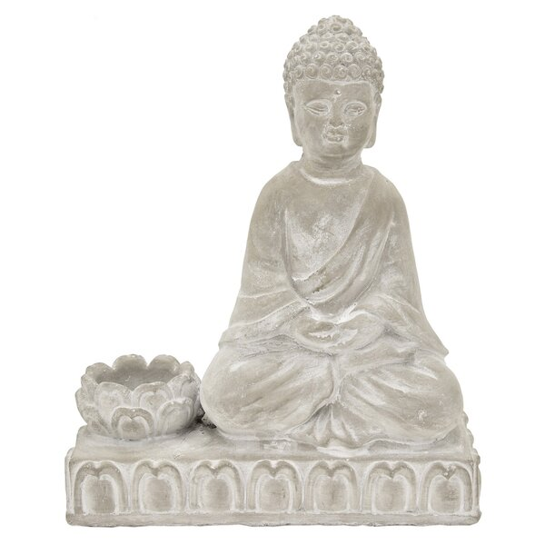 Buddha Ceramic Candle Holder by World Menagerie
