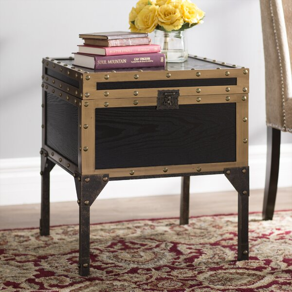 Hirst End Table With Storage  by Three Posts