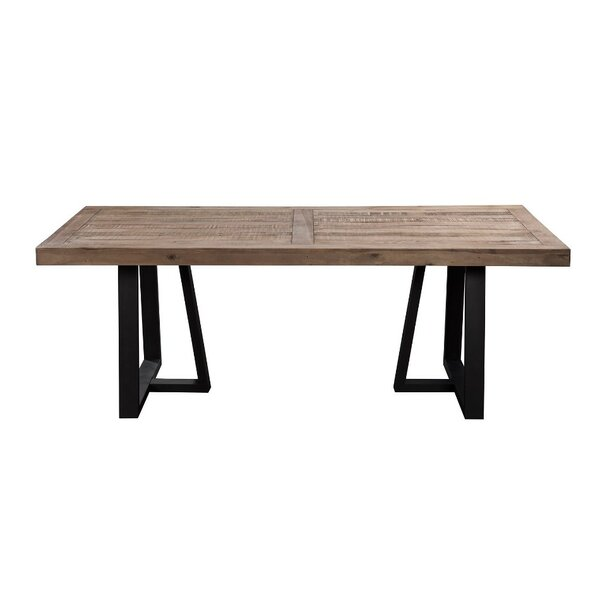Anastagio Wood and Metal Dining Table by Gracie Oaks