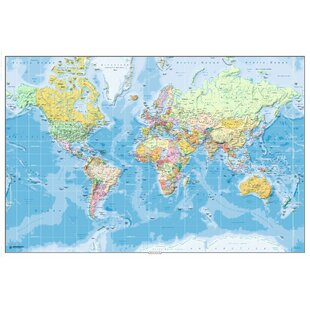 World map wall wayfair english world map wall art gumiabroncs Gallery