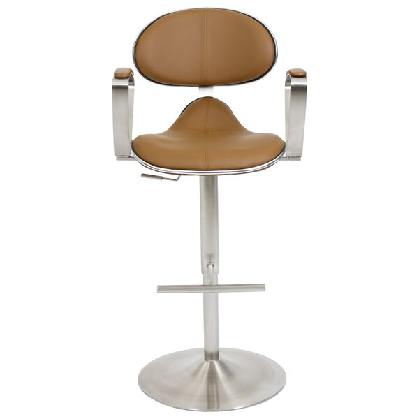 Blythdale Adjustable Height Swivel Bar Stool By Orren Ellis