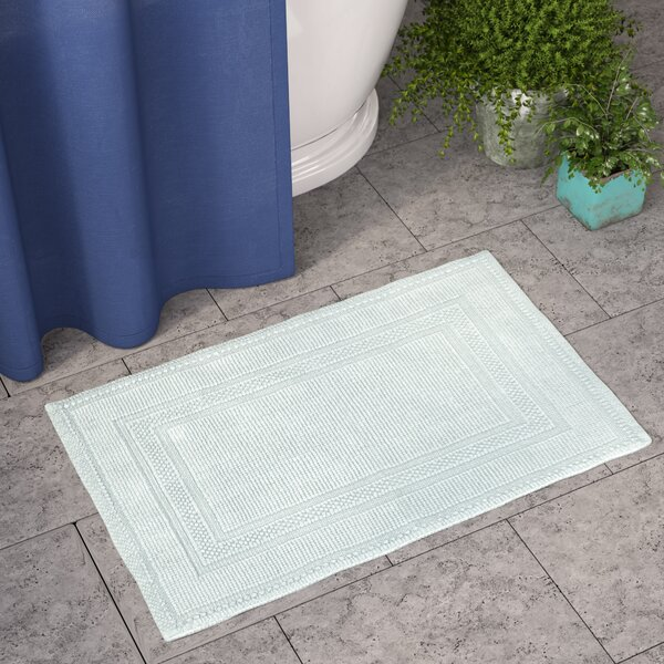 Bryson Cotton Stonewash Racetrack Bath Rug by Eide