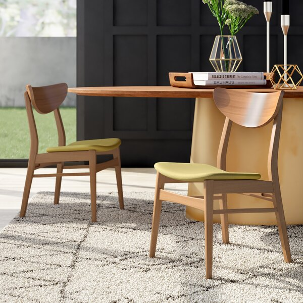 Lillis Solid Wood Upholstered Dining Chair (Set of 2) by Mercury Row