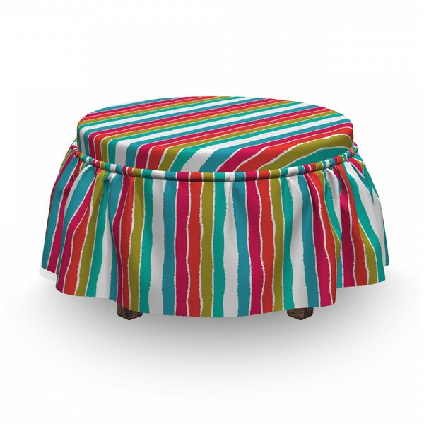 Torn Paper Effect Ottoman Slipcover (Set Of 2) By East Urban Home
