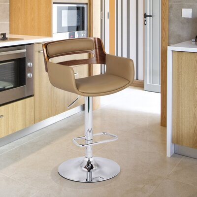 Tremendous Bentwood Adjustable Height Swivel Bar Stool Adecotrading Pabps2019 Chair Design Images Pabps2019Com