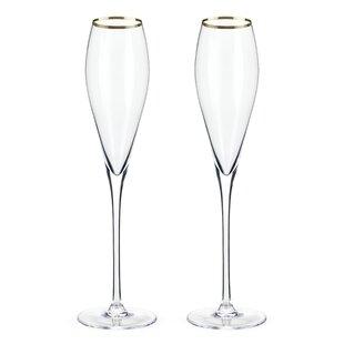 Belmont™ Rimmed Crystal Champagne Flute (Set Of 2)