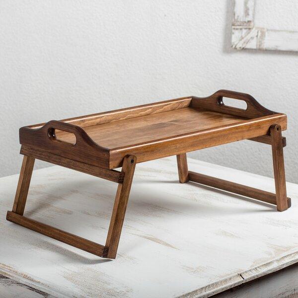 Patricio Coroy Artisan Crafted Alder Wood Folding Bed Tray by Novica