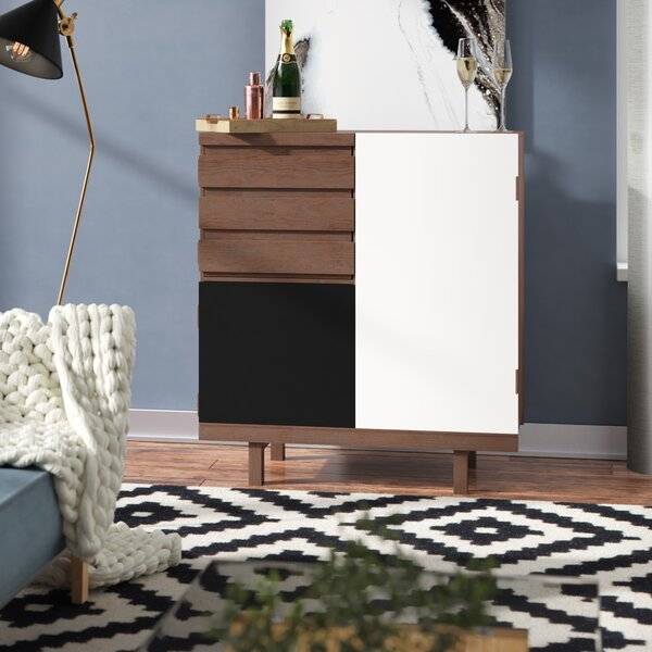 Faunsdale 3 Door Bar Cabinet by Wrought Studio Wrought Studio