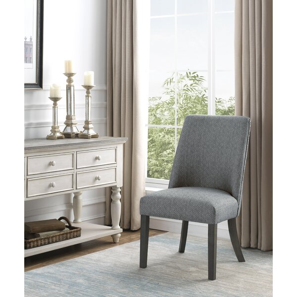 Kumre Tight Back Side Chair in Gray (Set of 2) by Red Barrel Studio Red Barrel Studio