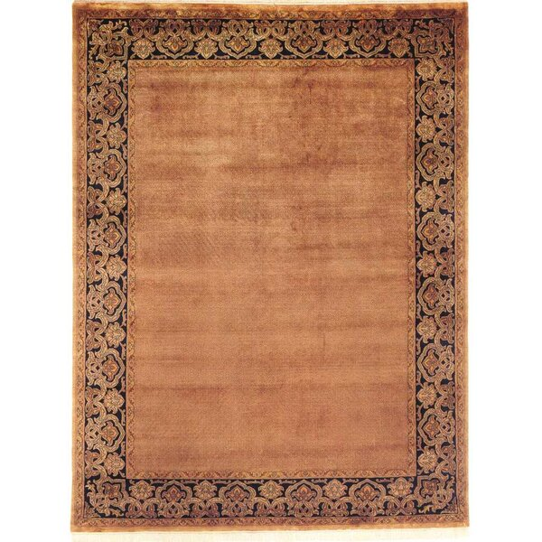 Bhargava Hand-Woven Brown Area Rug by Meridian Rugmakers