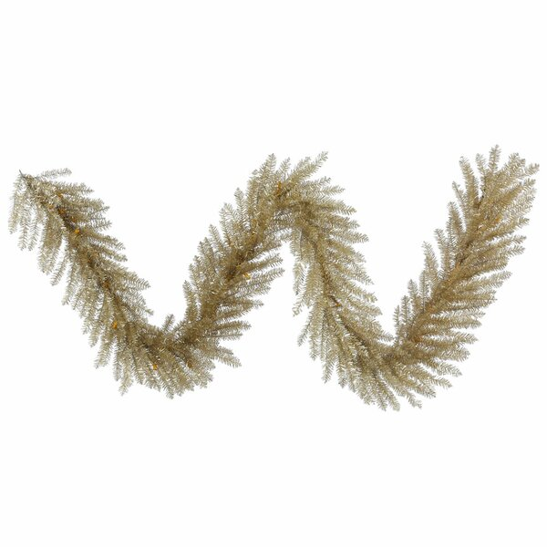 Champagne Tinsel Artificial Christmas Garland by The Holiday Aisle