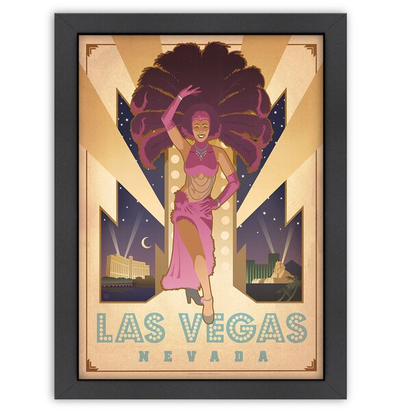 Las Vegas Showgirl Framed Vintage Advertisement by East Urban Home
