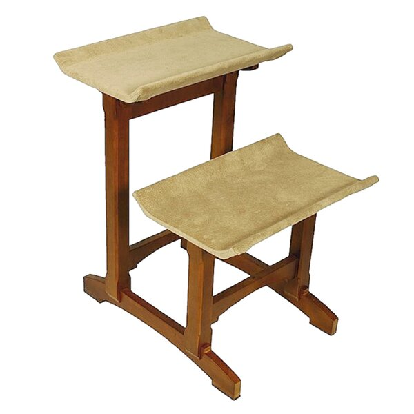 29 Double Seat Wooden Cat Perch by Mr. Herzher's
