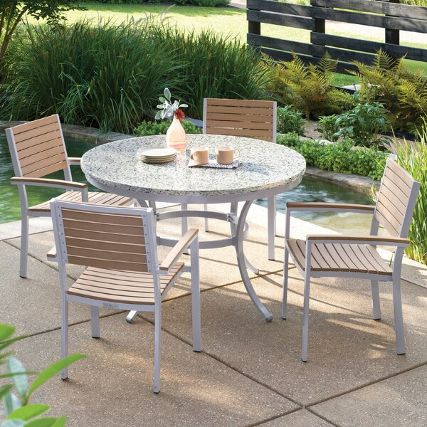 Travira 5 Piece Teak Dining Set by Oxford Garden
