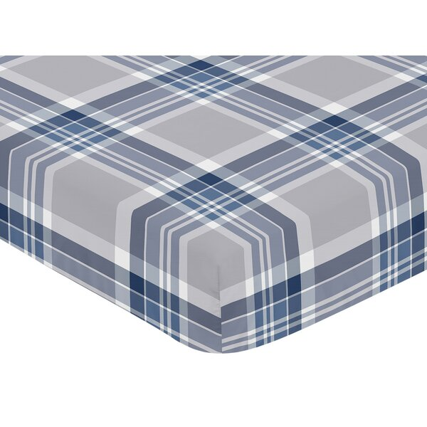 Plaid Fitted Crib Sheet by Sweet Jojo Designs