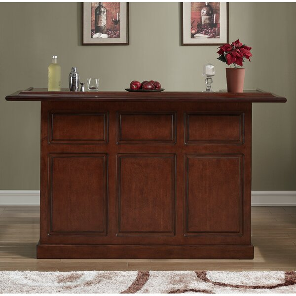 Lexington Bar with Wine Storage by American Heritage American Heritage