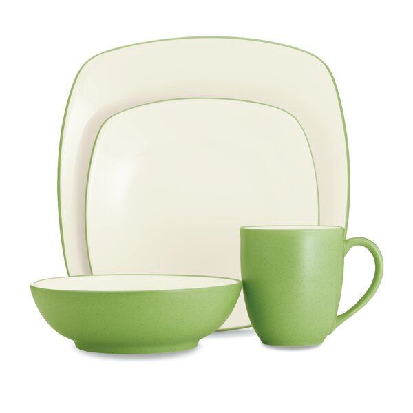 Colorwave Square 4 Piece Place Setting, Service for 1 by Noritake