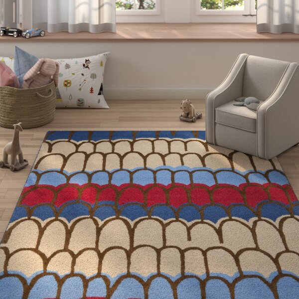 Claro Blue Kids Rug by Harriet Bee