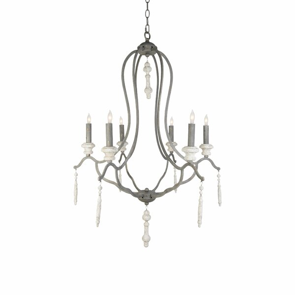 Fresco 6-Light Candle Style Empire Chandelier By Aidan Gray