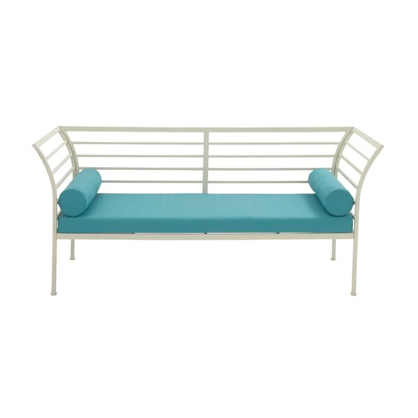 Metal Garden Bench with Cushion by Cole & Grey