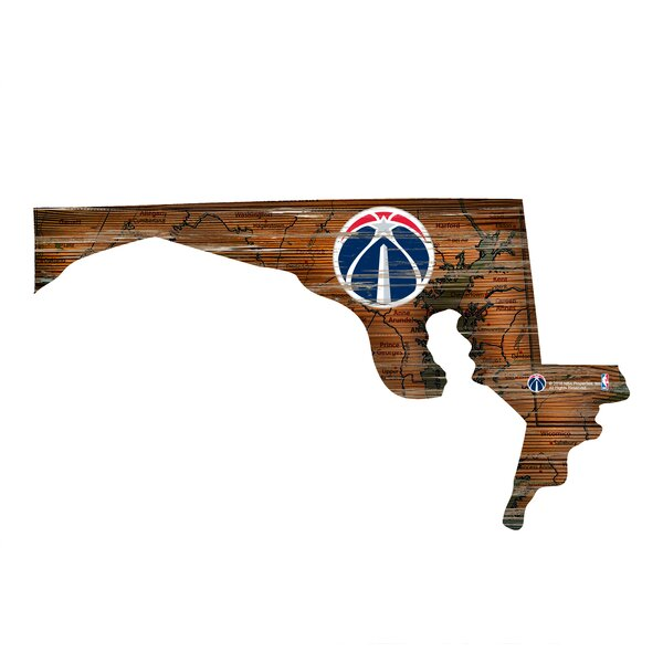 NBA Wizards Distressed State Wall Décor by Fan Creations