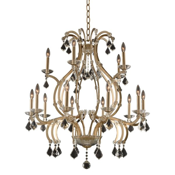 Duchess 15-Light Candle Style Tiered Chandelier by Allegri by Kalco Lighting Allegri by Kalco Lighting