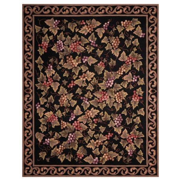 Arpdale Grapes Black Area Rug by Charlton Home