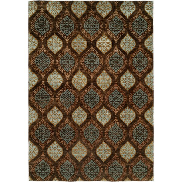 Guayaquil Hand-Knotted Brown/Ivory Area Rug by Wildon Home ®