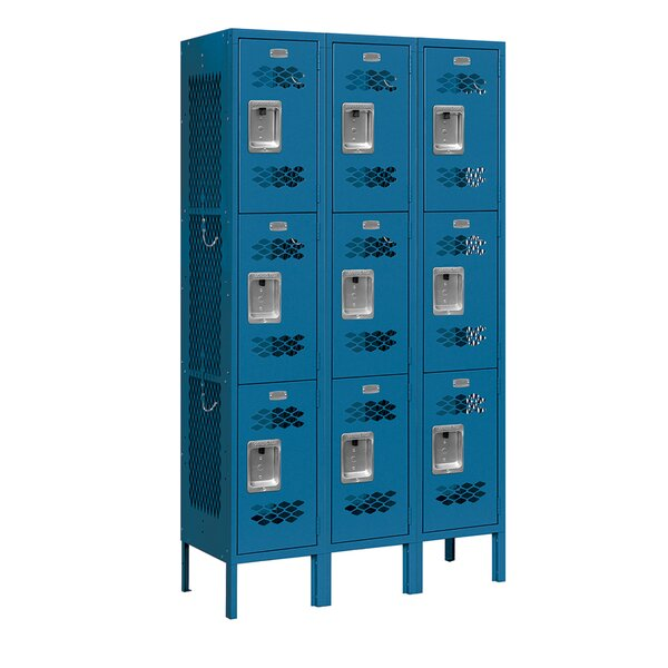 3 Tier 3 Wide Gym and Locker Room Locker by Salsbury Industries