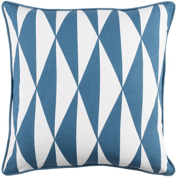 Antonia Modern Square Cotton Throw Pillow Cover by Langley Street