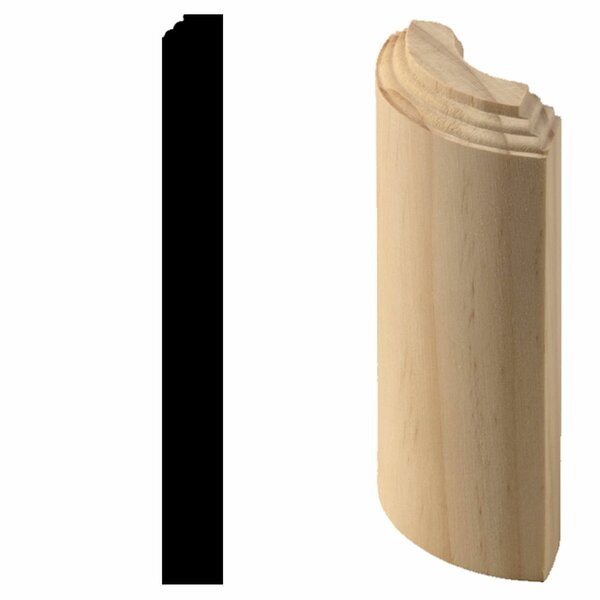 3/4 in. x 3/4 in. x 7 in. Hardwood Radius Base Block Molding by Manor House