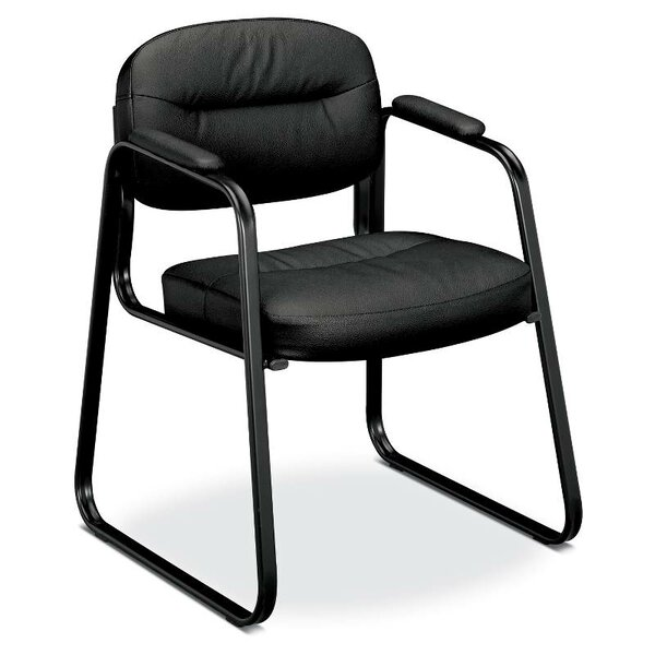 Leather Guest Chair by HON