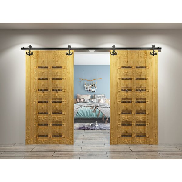 Double Mustache Barn Door Hardware by Vancleef