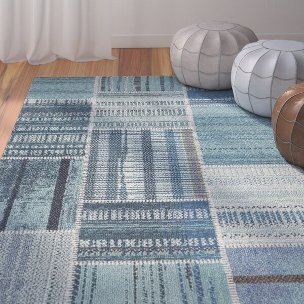 Damien Blue Area Rug by Bungalow Rose