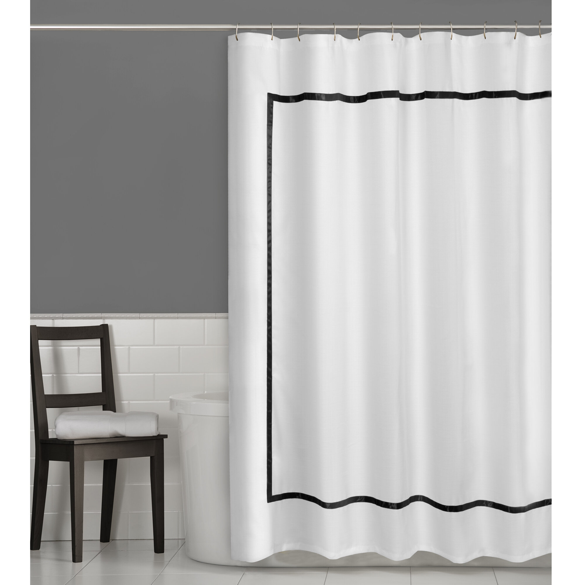Maytex Hotel Border Shower Curtain U0026 Reviews | Wayfair