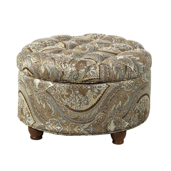 Rasco Paisley Patterned Tufted Storage Ottoman by Canora Grey